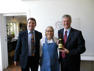 Jean Trimbach, Alsace and Mark O'Connor at Ballymaloe Cookery School