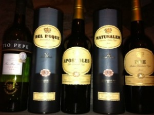 line-up of Sherry