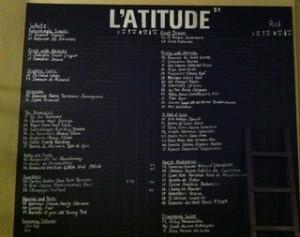 l'atitude 51 wine bar