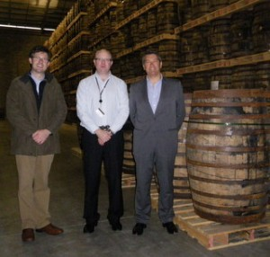 Cesar Saldana, Consejo Regulador, Jerez, pictured with Kevin O'Gorman and Colm