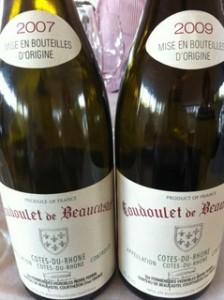 """Château de Beaucastel """"Coudoulet de Beaucastel"""" Côtes du Rhône 2007  & 2009"""