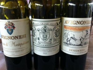 Avignonesi line-up of red wines