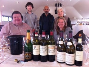 Fionn Little with his grandmother, Mrs. Myrtle Allen, and some of the guests enjoying the tasting.