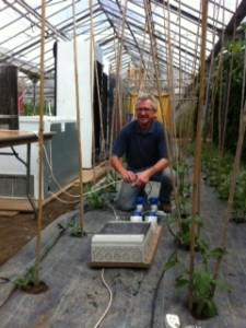 Jimmy getting the kitchen in the glasshouse all connected
