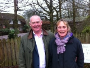 Eileen, Head Gardener and David Dennison