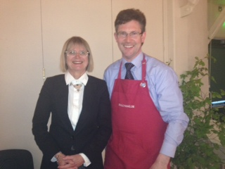 olm pictured with Jancis Robinson MW at Ballymaloe Literary Festival
