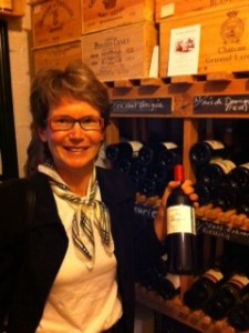 Caro Feely in the wine cellar at Ballymaloe