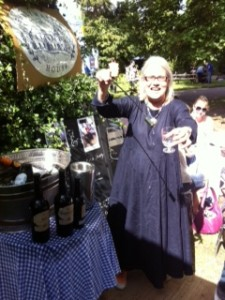 Darina using the Sherry Venencia