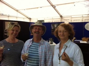 Rachel Allen, Michael Ryan and Hazel Allen enjoying Cork Food Festival