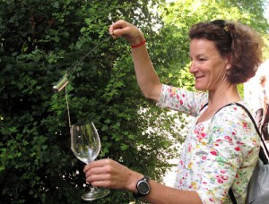 Sonia O'Sullivan using the Sherry Venencia