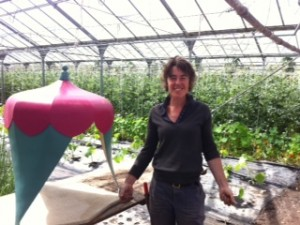 Susan in the glasshouse