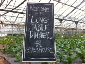 Sign in the glasshouse