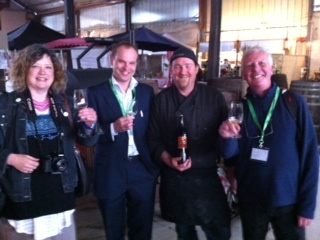 Sally, Con, Ivan and John - all Sherry fans