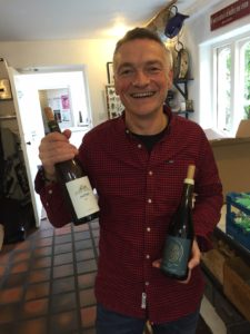 Pascal Rossignol of Le Caveau getting the wines ready for the class for the students